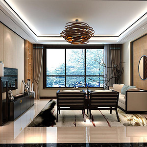 铂悦山-新中式风格-350平米
