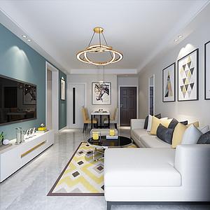 未来城88平两室二厅现代风格装修案例