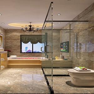 新中式风格 卫生装修效果图 别墅装饰