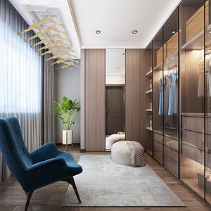 四居室-现代港式-衣帽间-效果图