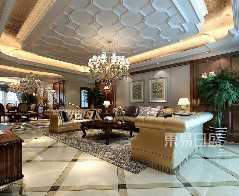 欧式古典 - 客厅欧式装修效果图四室二厅一卫一厨