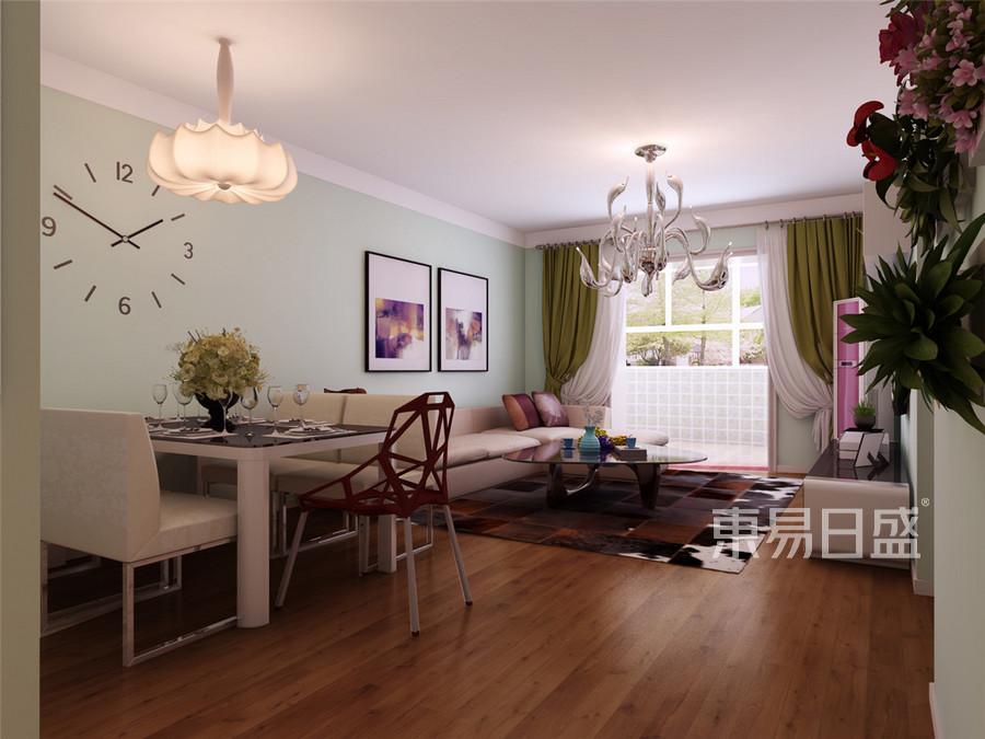 金湾花园现代简约风格客厅装修效果图