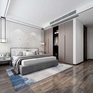 锦绣山河观园五房新中式卧室装修效果图
