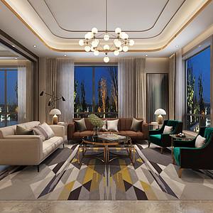 现代港式-客厅