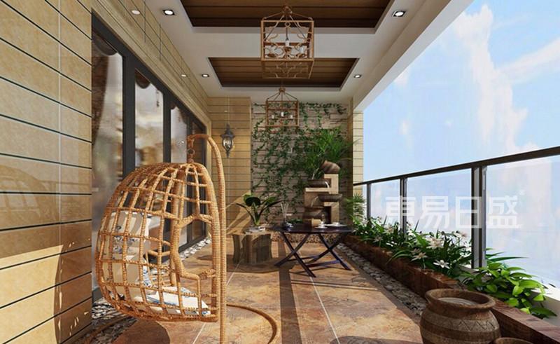 新中式 - 新中式风格 阳台装修效果图 别墅装饰