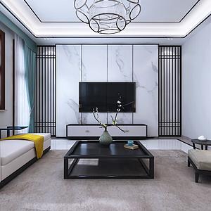 鑫界王府六室四厅新中式风格装修案例
