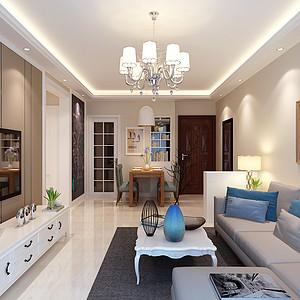 未来城90平二室二厅现代简约风格装修案例