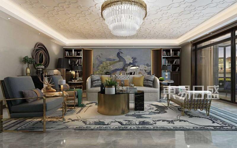 新装饰主义风格-客厅-装修效果图
