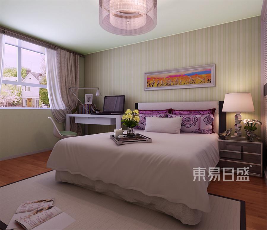 金湾花园现代简约风格卧室装修效果图