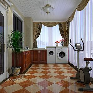欧式风格二楼洗衣间