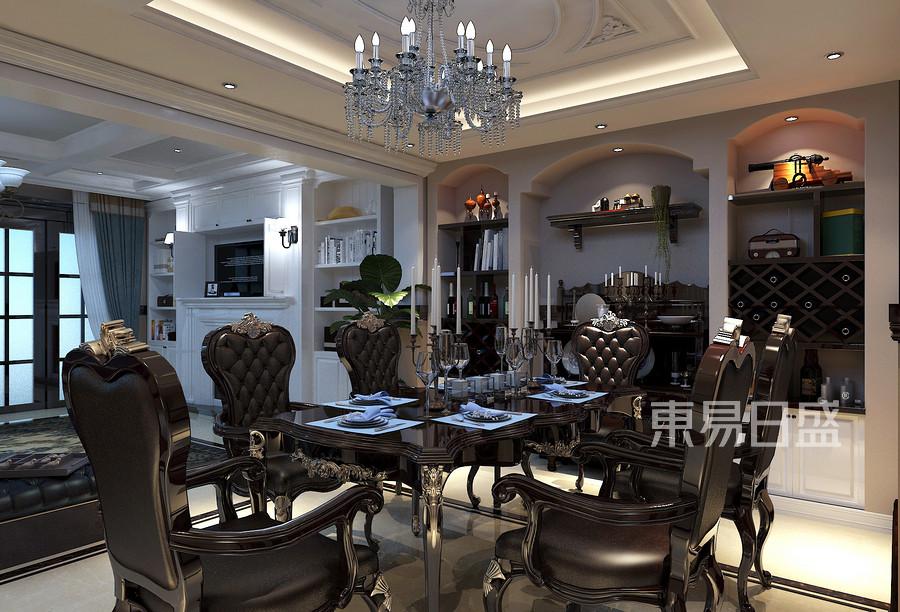 林隐天下现代美式风格餐厅装修案例效果图