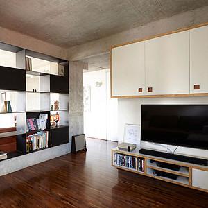 未来城公寓78㎡平层工业风格实景图
