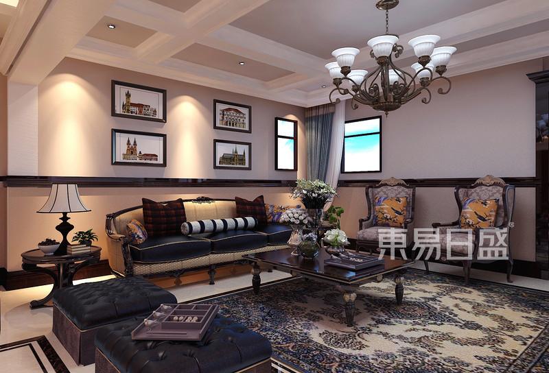 古典美式风格客厅