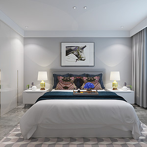 东润泰和现代极简风格卧室
