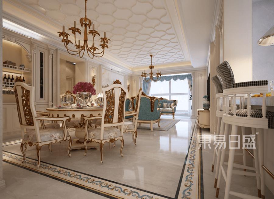 普通住宅-简欧装修设计案例-餐厅装修效果图