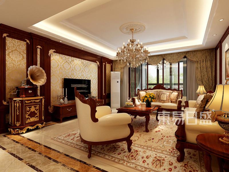欧式古典 - 客厅:欧式古典风格,墙面护墙板造型搭