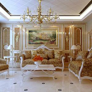 铜川阳光花园 欧式装修效果图 四室二厅两卫