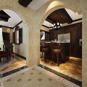 南郊别墅-西班牙复古风格-450厨房