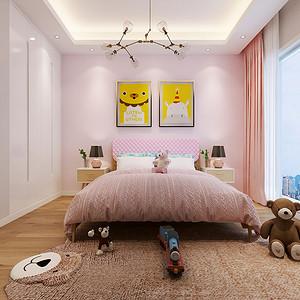儿童房清新明快的墙面涂料
