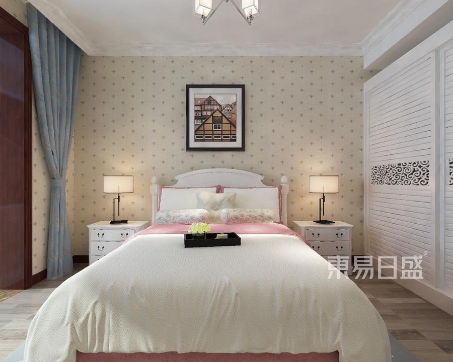 卧室国信嘉园130平米新中式装修效果