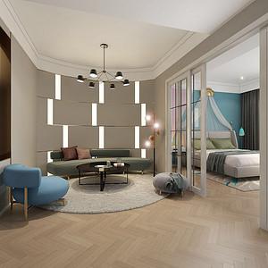 休闲室墙面灯光元素的运用