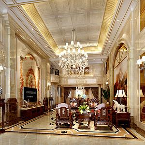 中海城南一号400㎡大平层欧式古典风格