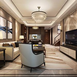 桃园漫步 五室两厅 160平米 新中式装修效果图