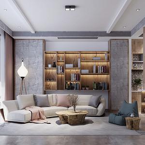 民宿风格客厅装修设计