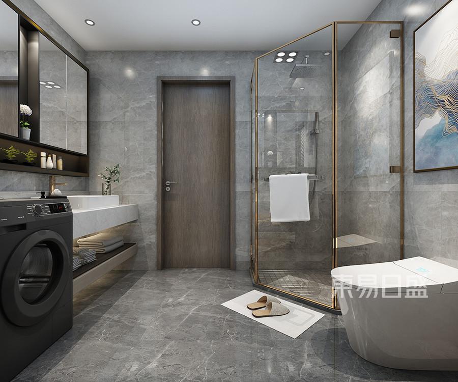 卫生间空间利用合理,视觉与身体的双重享受,整体色调统一。