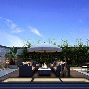 玫瑰府邸-欧式风格-花园装修效果图