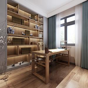 新中式风格书房装修设计