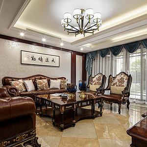 古典美式客厅装修效果图