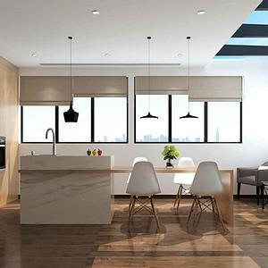 146㎡跃层现代风格厨房效果图
