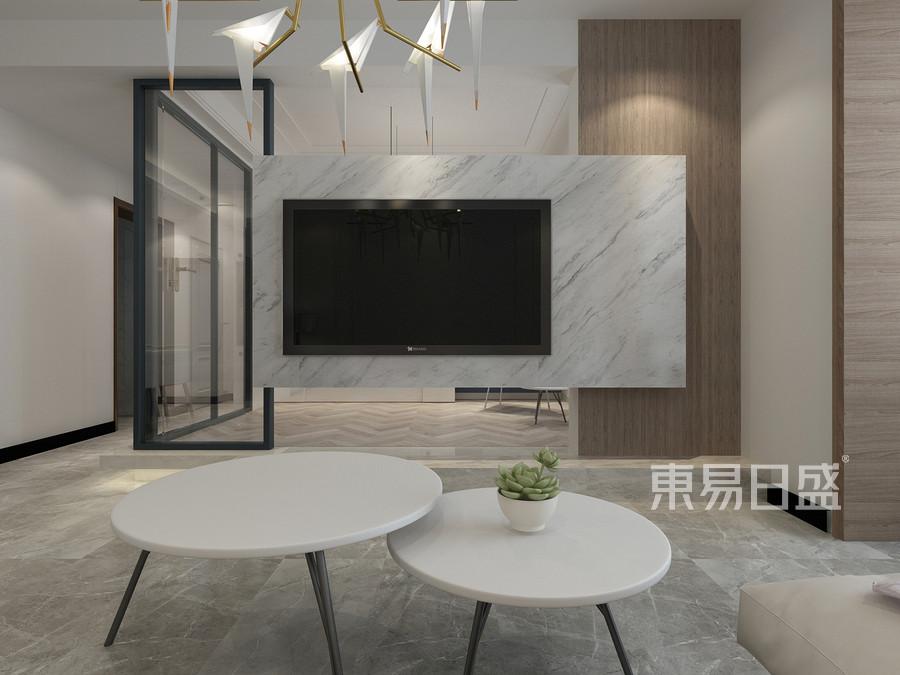 98平米锦绣花苑简约风格客厅装修效果图