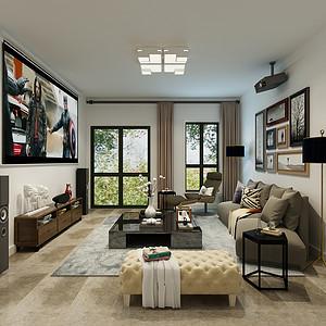 长久中心240平五室二厅现代简约风格装修案例