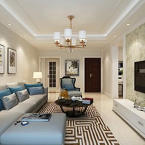 未来城205平四室二厅现代简约风格装修案例