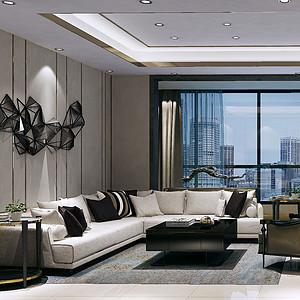 蓝光雍锦阁145㎡四居室后现代风格
