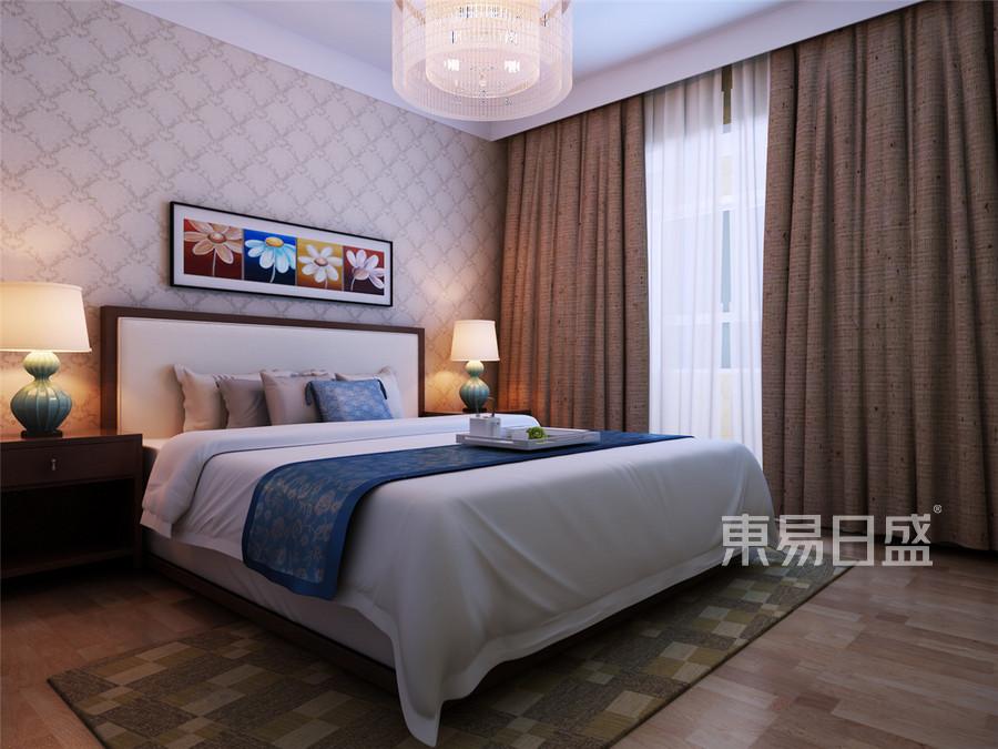 通达尚城简约风格卧室装修效果图