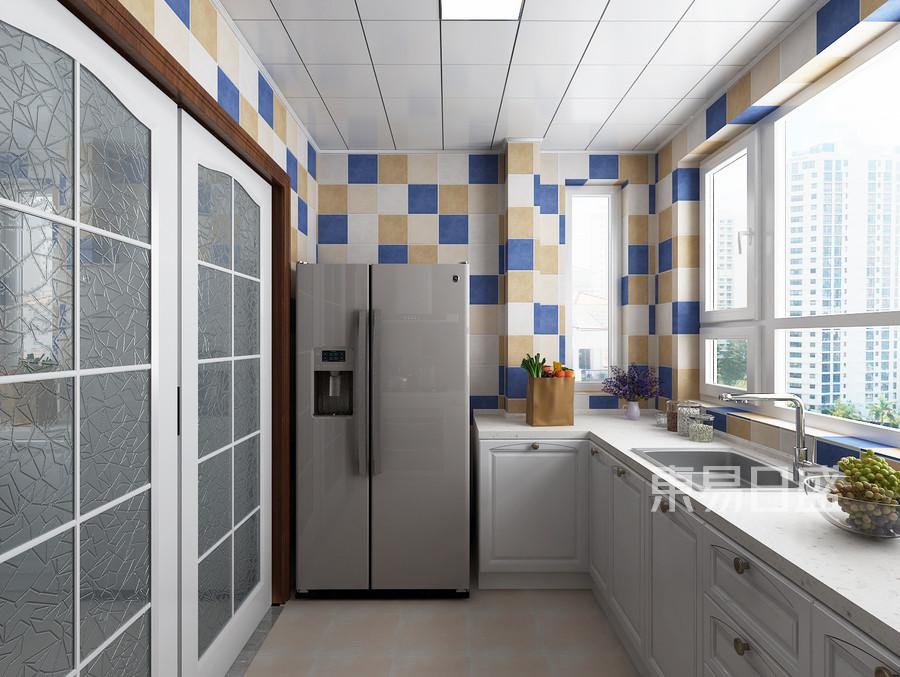 青岛装修公司-地中海设计案例-厨房装修效果图