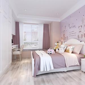 儿童房装修效果图 美式风格 三室两厅