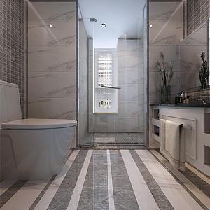 津门公寓现代新雅致风格客卫效果图
