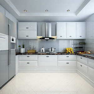 保利玫瑰湾混搭风格厨房装修效果图