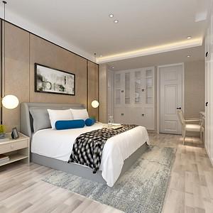 卧室装修效果图 美式风格 三室两厅