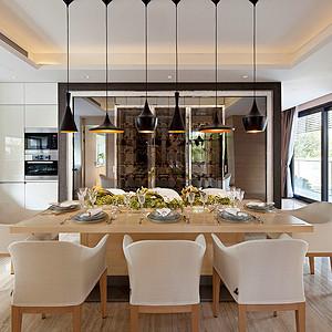 现代简约风格 餐厅装修效果图 别墅