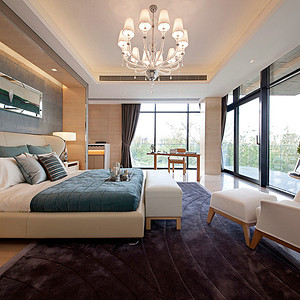现代简约风格 卧室装修效果图 别墅