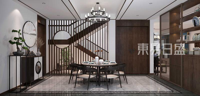 自建别墅500平轻奢新中式风格装修效果图