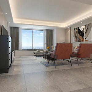 客厅装修效果图 现代简约 三居室