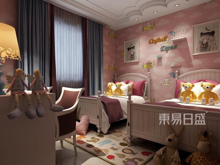 中海广场小区现代简约风格儿童房装修效果图