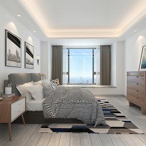 卧室装修效果图 现代简约 三居室