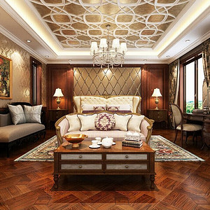 林隐天下-300平米-欧式古典风格装修案例效果图